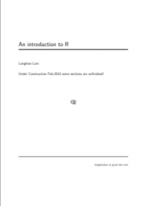 An introduction to R