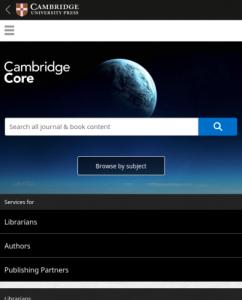 Cambridge Books Core