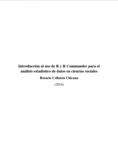 Introducción al uso de R y R Commander para el análisis estadístico de datos en ciencias sociales