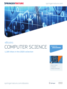 SpringerLink e-books (Computer Science 2020)