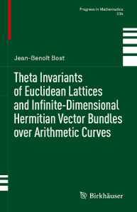 Theta invariants of Euclidean lattices and infinite-dimensional Hermitian vector bundles over arithmetic curves