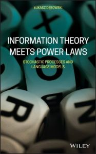 Information theory meets power laws : stochastic processes and language models